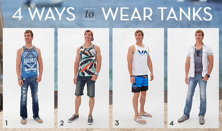 4 Ways to Wear Men's Tanks