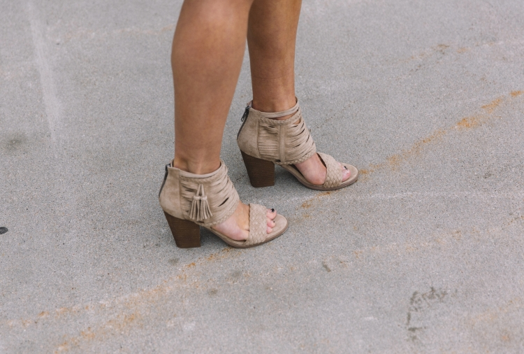 Close up picture of women wearing Not Rated brand spring heels from the clothing store Buckle.