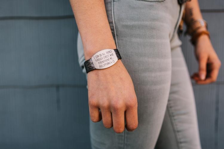 GoodWork(s) bracelet in silver.