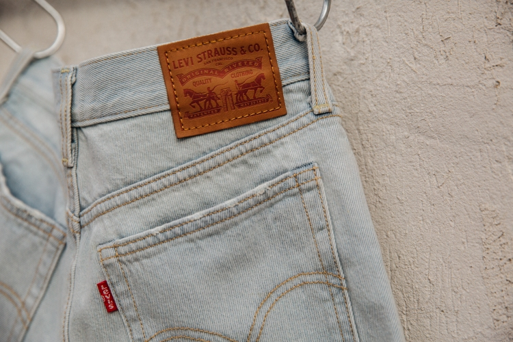 Levi's Shorts Logo above the back pocket.