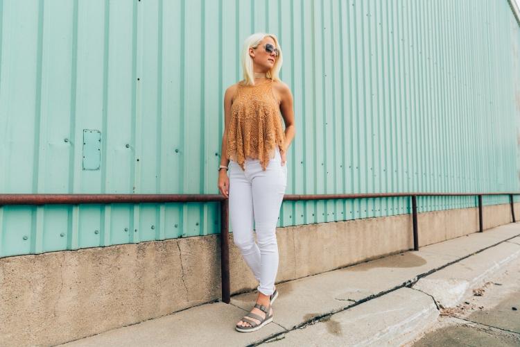 White Denim Jeans For Summer