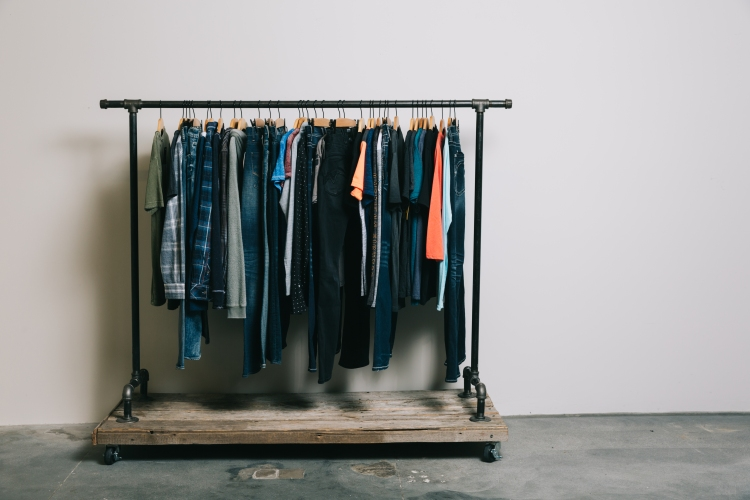 Special Pricing Anniversary Event Men's Product rack - pants, tees, button-ups included