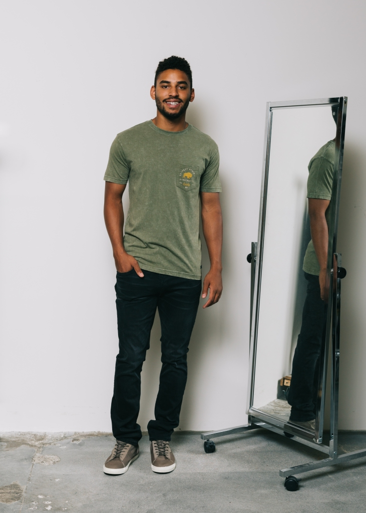 Special Pricing Anniversary Event - Front view of men's top pick outfit on male model