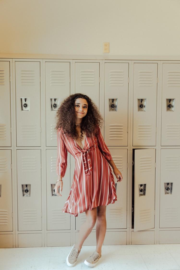 70s Styles   Amuse Dress in Muted Auburn