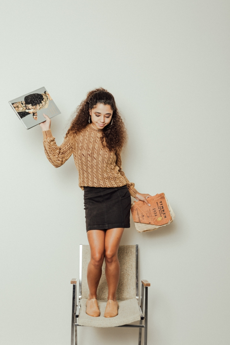 70s Styles | Gilded Intent Sweater and Free People Skirt