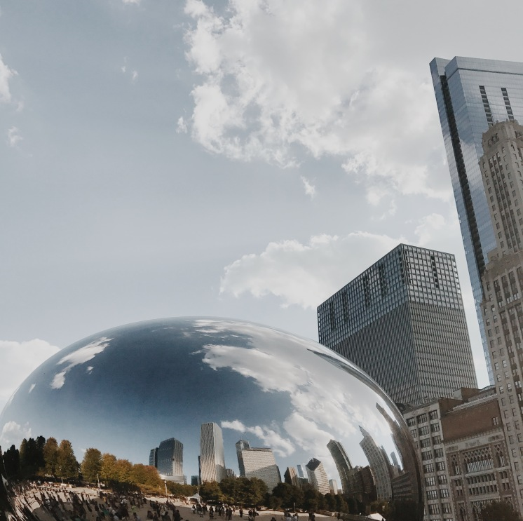 Fun Fact: The bean is named Cloud Gate by Britsh artist Anish Kapoor. Pretty neat, yeah?