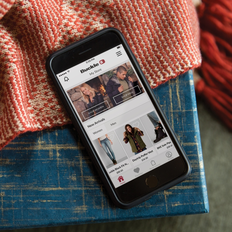 Buckle Mobile App | Last-Minute Shopping Idea