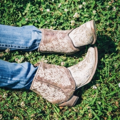 Women's Corral Flipped Ankle Cowboy Boots 2