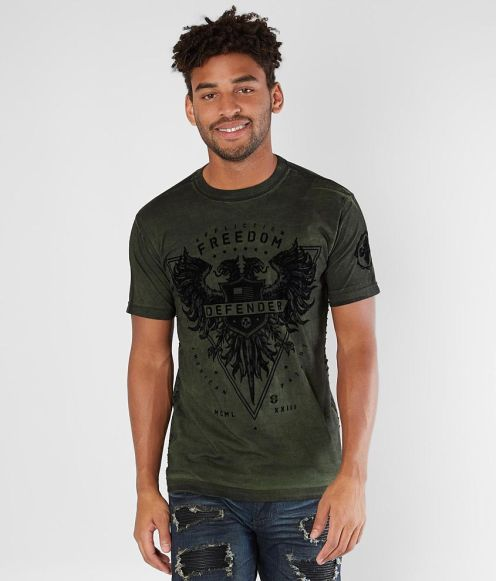 Mens Affliction Freedom Defender T-shirt 2