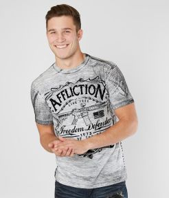 Mens Affliction Freedom Defender T-shirt