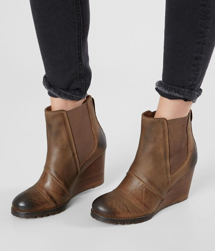 Diba True Genuine Leather Wedge Chelsea Boot