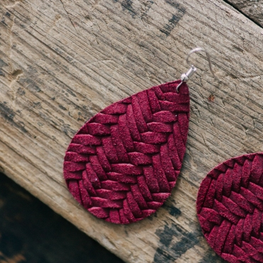 Nichole Lewis Designs Braided Leather Earring