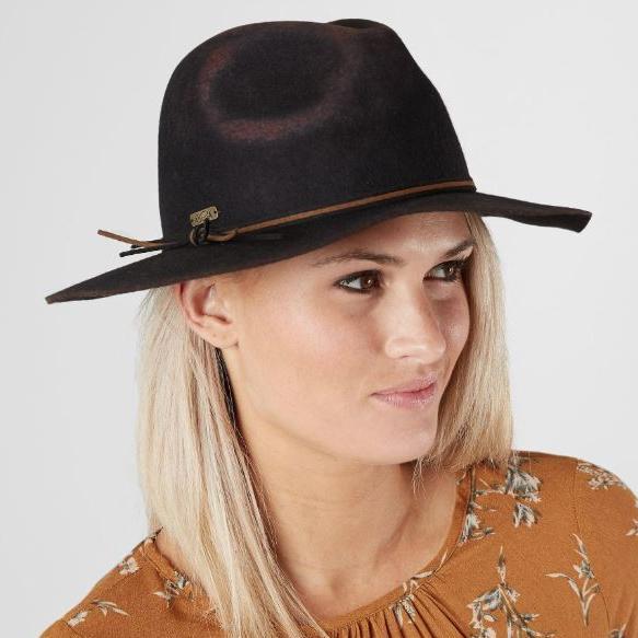 Women's Adora Brown Felt Panama Hat