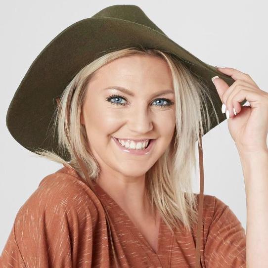 Women's Billabong Olive Green Felt Panama Hat
