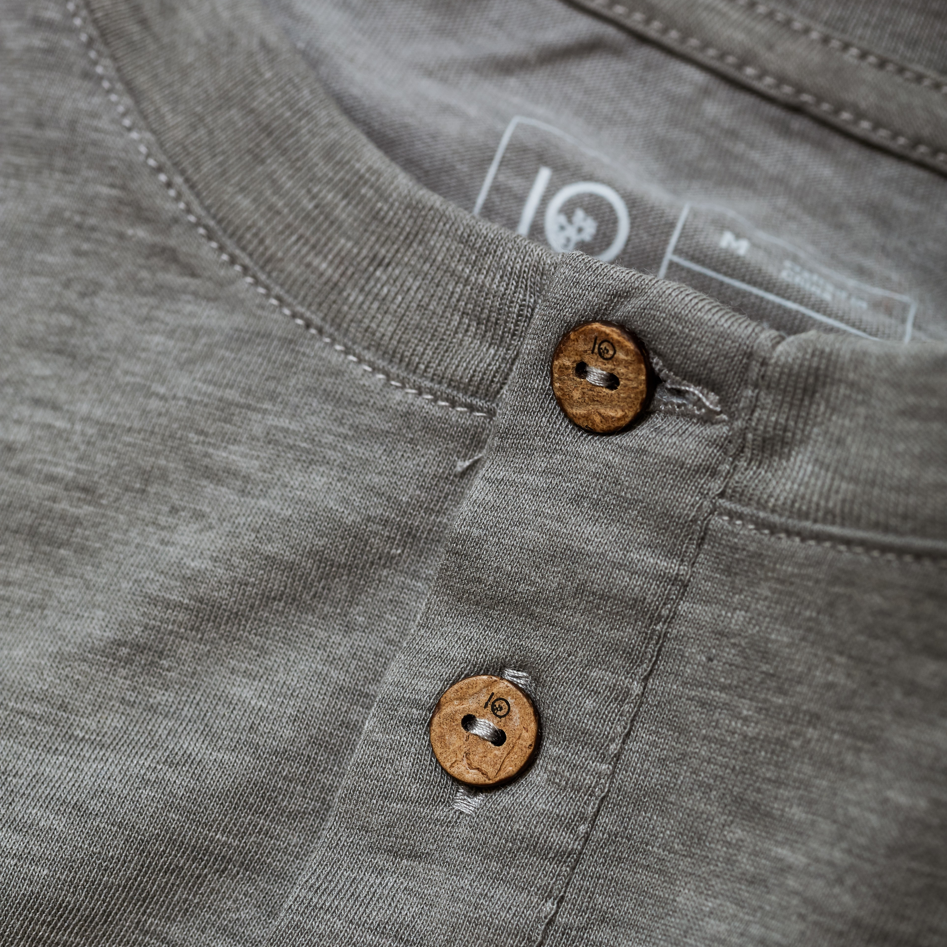 Tentree Coconut Buttons used on Men's Henley Shirt