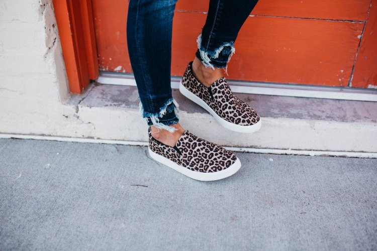Women's Soda Brand Cheetah Slip-on Sneaker Shoe