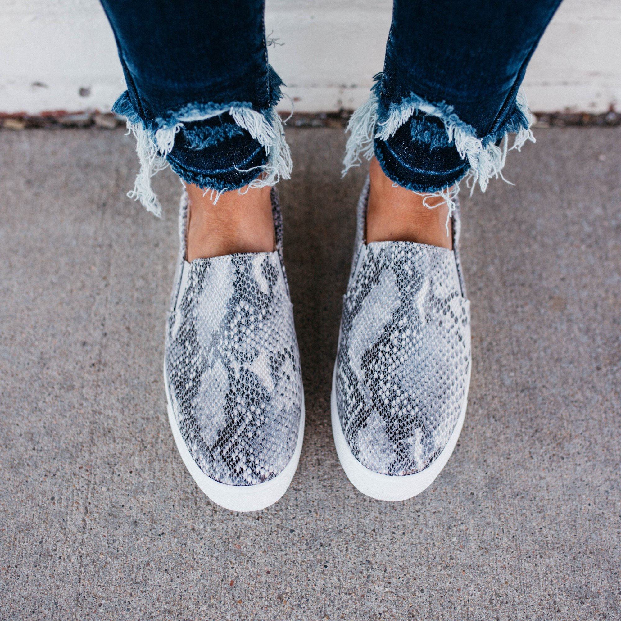 Women's Soda Brand Python Snakeskin Slip-on Sneaker Shoe