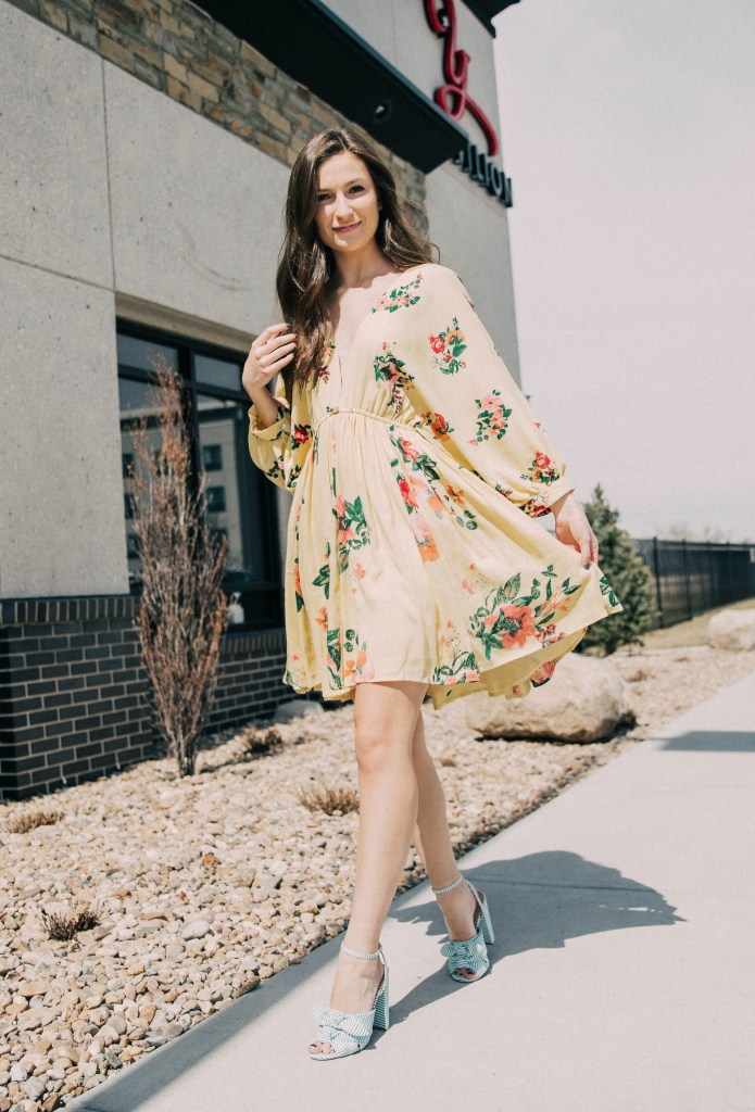 Women's Willow & Root Yellow Floral Dress