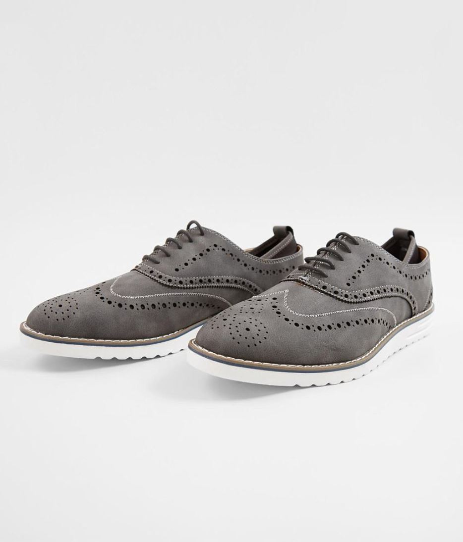Men's Steve Madden Grey M-Carry Wingtip Shoes