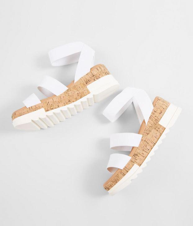 Women's Steve Madden White Bandi Flatform Sandal