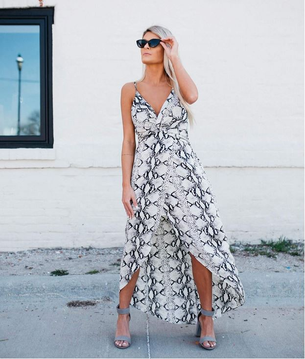 Women's Willow and Root Snakeskin Maxi Dress