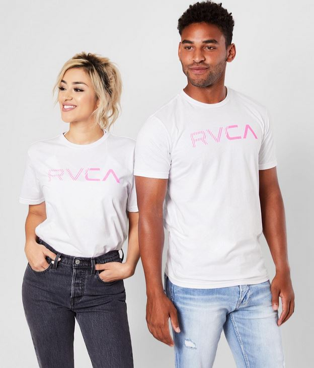 RVCA Unite To Fight Breast Cancer T-Shirt - 20% of the retail price is contributed to the American Cancer Society